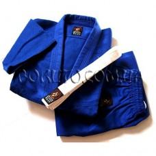 Кимоно для дзюдо плетёное синее Wolf 550 г/м2