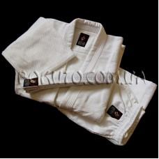 Кимоно для дзюдо плетёное белое Wolf 550 г/м2