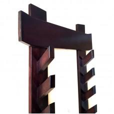 Подставка в японском стиле на 8 предметов для додзё (ясень коричневый)