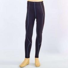 Компрессионные штаны подростковые  для спорта LD-1202T-BK