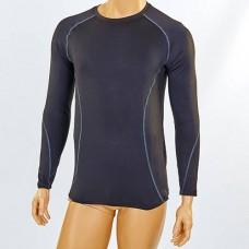 Компрессионная мужская футболка с длинным рукавом LD-1001-BK