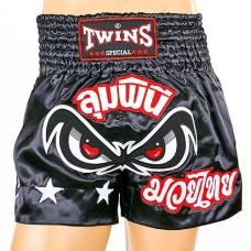 Шорты для тайского бокса TWINS TBS-02-BK
