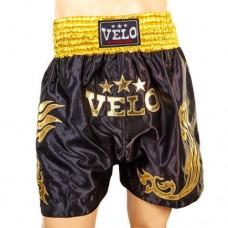 Шорты для тайского бокса VELO ULI-9200-BK